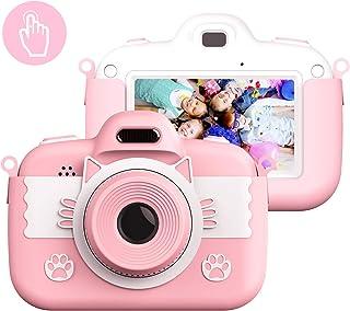 Vannico Camara de Fotos para Niños Camara Fotos Infantil 8 MP 3 Inch Pulgadas Táctil Juego Vídeo con Tarjeta TF 16GB Ni?os Regalos Cumplea?os Navidad(Rosa)