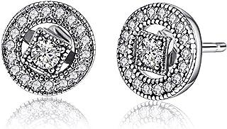Vintage Allure, Twenty Plus, Sparkling Clear CZ Stud Earrings Fashion Jewelry for Women & Girls