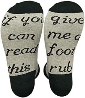 OMONSIM IF You Can Read This PLEASE Bring Me Wine Beer Novelty Funky Crew Socks Men Women Christmas Gifts Slipper Socks