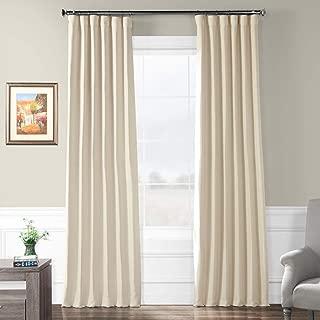HPD HALF PRICE DRAPES BOCH-PL4201-96 Bellino Blackout Room Darkening Curtain 50 X 96,Cottage White
