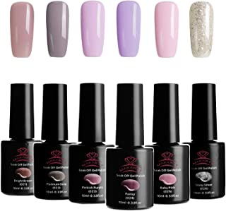 Makartt P-02 Gel Nail Polish Set Fashion Urban Girl Color Series 6 PCS 10ML Soak Off UV LED Gel Nail Polish Kit Perfect Manicure Pedicure