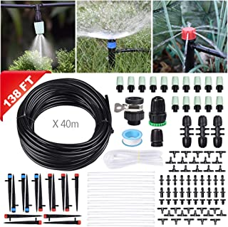"""Innoo Tech 138FT/42M Drip Irrigation Kit Sprinkler System with 1/4"""" Blank Distribution Tubing Watering Drip Kit/DIY Saving Water Automatic Irrigation Equipment Set for Garden Greenhouse, Lawn"""