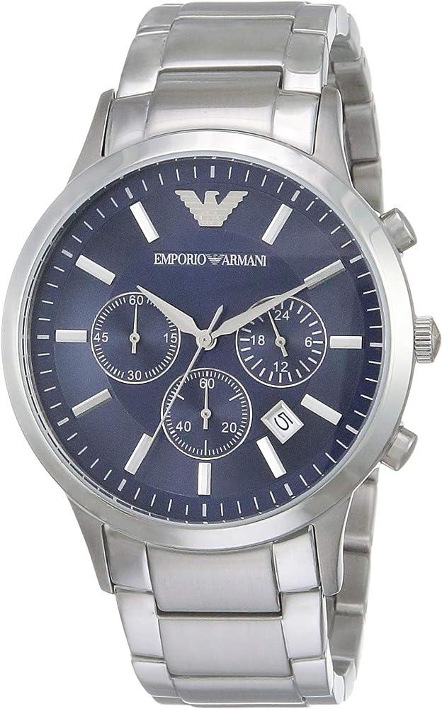 Emporio armani orologio  Renato cronografo  in acciaio inossidabile AR2448