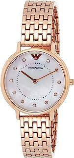 """ساعة كاجوال للسيدات من Emporio Armani كوارتز """"Kappa"""" مطلية بالفولاذ المقاوم للصدأ، عرض تناظري"""