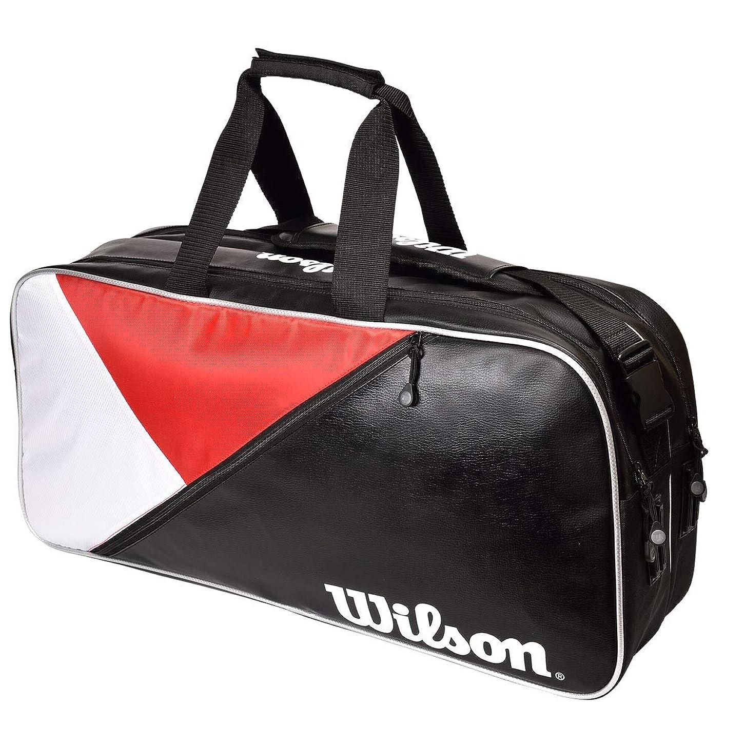 わかりやすい鰐去るWilson(ウイルソン) テニス バッグ バドミントンバッグ RECTANGLE BAG IV (レクタングルバッグ) ラケット6本収納可能