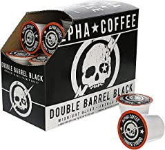 Alpha Coffee - Double Barrel Black 24 Count K-Cup Premium Gourmet Craft French Roast Ground Coffee | Veteran Owned - 100% ...