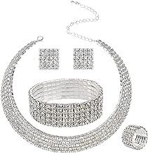 ladies watch bracelet necklace & earring set
