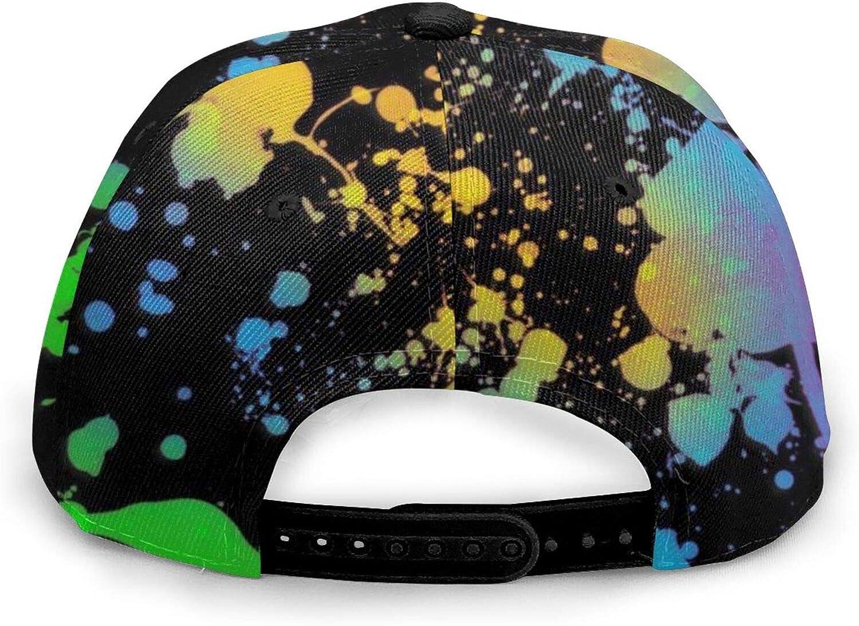 Bald Eagle and Flag Adjustable Snapback Hat Unisex Hip Hop Baseball Cap