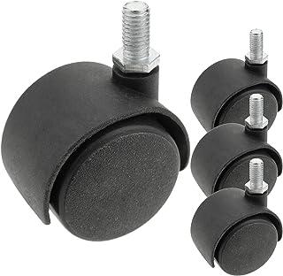 PrimeMatik - Zwenkwiel nylon zonder rem 40 mm M8 4-pack