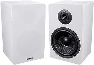 Pair ROCKVILLE RockShelf 68W White 6.5