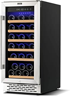 Colzer Upgrade 15 Inch Wine Cooler Refrigerators, 32 Bottle Fast Cooling Low Noise and No Fog Wine Fridge with Professiona...