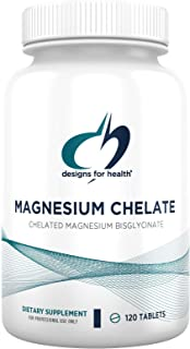 Designs for Health Magnesium Chelate Tablets - 200mg Magnesium Bisglycinate Chelate - Non-GMO Supplement Designed to be Ea...