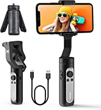 3-Axis Gimbal Stabilizer for iPhone, Portable Phone Gimbal w/ 3D Auto Inception & Face Tracking, Lightweight Smartphone Gi...
