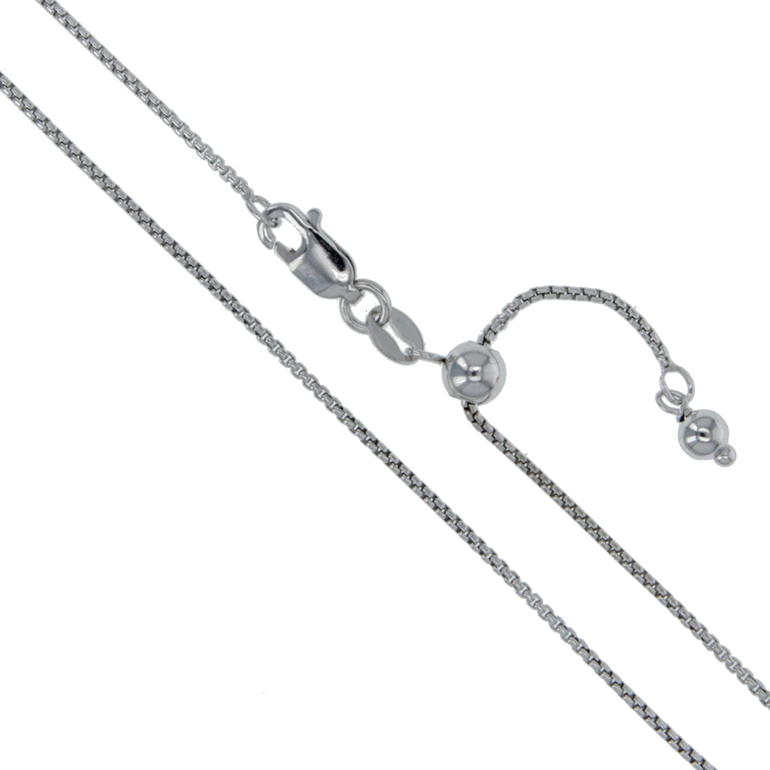 1 Necklace Extender Plated in Genuine Rhodium Plated