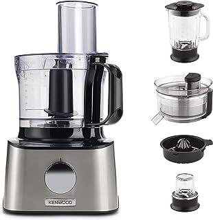 Kenwood Multipro Compact Food Processor, 2.1 Litre Bowl, 1.2 Litre Glass Blender, Dough Hook, Whisk, 3 Slicing and Grating...