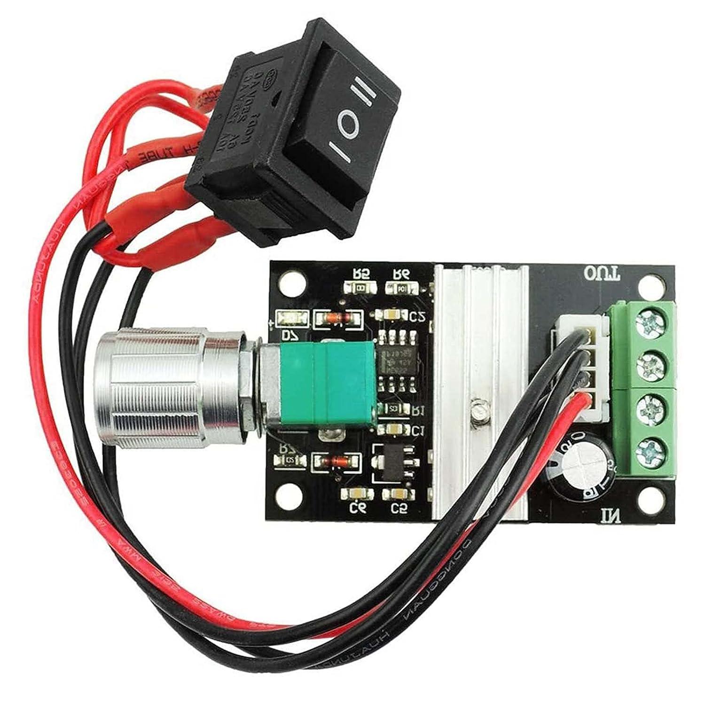 ZHITING DC Motor Speed Control Controller 6V 12V 24V 3A DC Controlador de Velocidad del Motor PWM de Control del Motor deVelocidadAjustable Interruptor Reversible Regulador 1203BB
