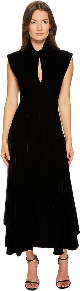 Velvet Cap Sleeve Dress