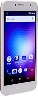 "BLU S590Q Smartphone 5"", Unlocked Dual Sim, 5Mp Main Camera with Flash and 2Mp Front Camera with Flash, 8GB Internal Memory, Android 6.0 Marshmallow, Rose Gold"