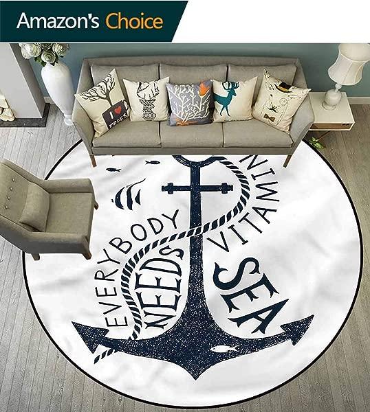 RUGSMAT 主播圆形区域地毯励志信息防滑浴垫客厅卧室地毯直径 47