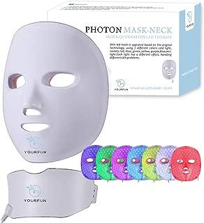 Wireless 7 Color LED Mask Neck Light Skin Rejuvenation Facial Beauty Daily Skin Care Mask