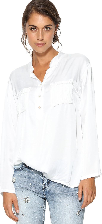 Blusa Cuello Mao y Escote en v Mujer by Vencastyle - 009661 ...