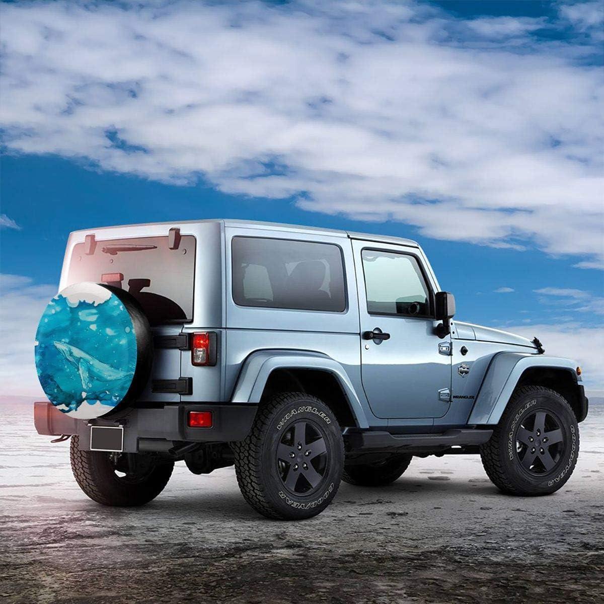 VTIUA Abstract Blue Alcohol Ink Polyester Universal Dust-Proof Universal Ersatzreifen Rad Weiche Abdeckung Besch/ützer Weatherproof for Jeep//Trailer//RV//SUV 14 15 16 17