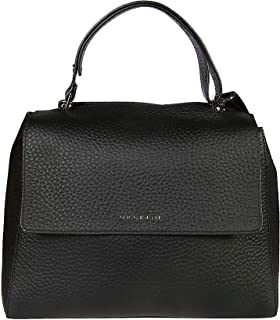 Orciani Luxury Fashion Donna BT2006SOFTBLACK Nero Pelle Borsa A Mano | Ss21