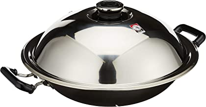 Zebra 176201 Stainless Steel Chinese Wok With Lid and Steamer, 38cm