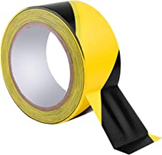 LLXIA Black & Yellow Hazard Safety Warning Stripe Tape, 36Yards x 2inch High Visibility Barricade Adhesive Tape for Floor, Walls, Pipes and Equipment Marking