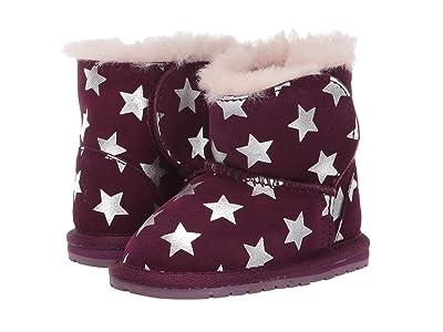 EMU Australia Kids Toddle Starry Night (Infant) (Plum) Girls Shoes