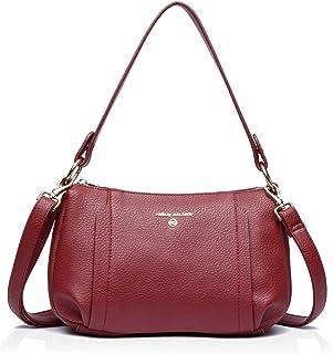 Crossbody Tasche für Damen, Geldbörsen und Handtaschen, veganes Leder Umhängetasche mit Multi Taschen und abnehmbaren Trägern