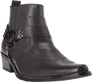حذاء رجالي Western Style Cow-Boy ذو الرقبة الطويلة مصنوع من الجلد الصناعي من Westtern10