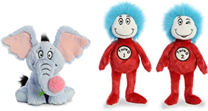 Aurora Plush Bundle Set of 3 Cat in The Hat Toys - Dr Seuss Toys Cat in The Hat Stuffed Plush Toys 12