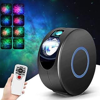 Proyector de Luz Estelar Lámpara Luces Nocturnas de Nebulosa Giratorio con Control Remoto para La Decoración del Dormitorio, Fiestas Infantiles