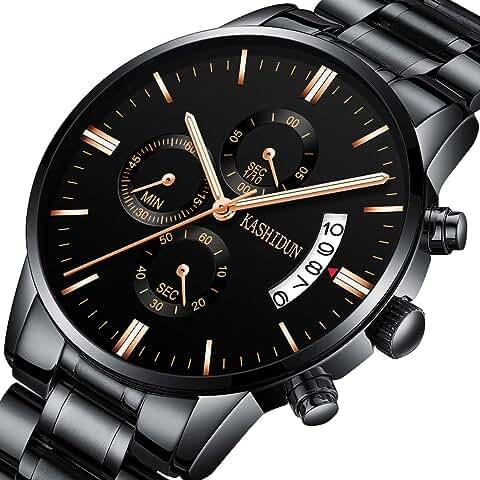 Kashidun Men's Chronograph Watch (Black)