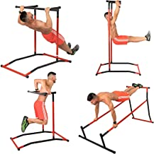 FlowerW, capaciteit 150 kg, trainingsstation Dip Pull Up Dip Bar Pull Power Tower, multifunctioneel station, workout fitne...