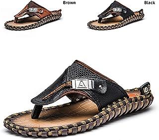 6192b3f27516e4 ENLEN BENNA Men s Beach Flip-Flops Leather Thong Sandals Men Bottle Opener Flip  Flops Summer Outdoor