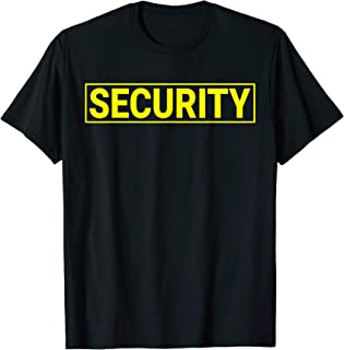 Mens Security Guard T-Shirt (Uniform or Halloween Costume)