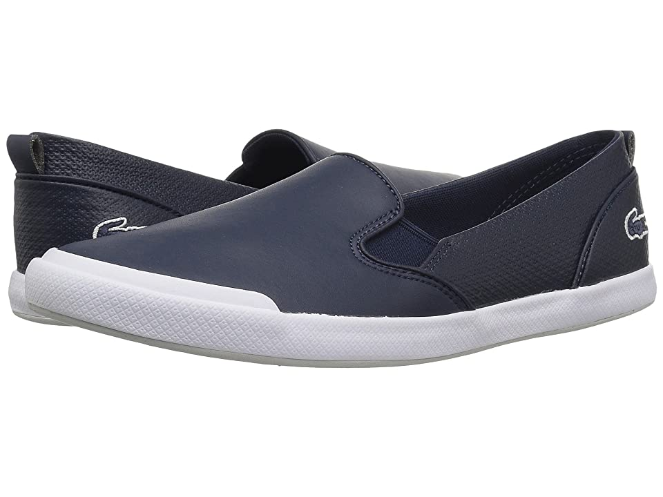 Lacoste Lancelle Slip-On 118 1 (Navy/Light Grey) Women