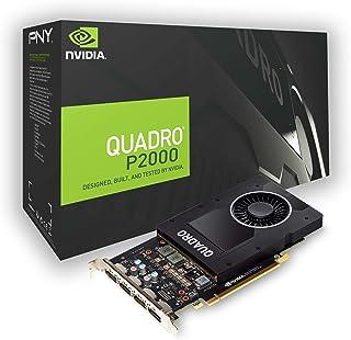 PNY NVIDIA Quadro P2000 - Tarjeta gráfica profesional (4 unidades, DP, 5 GB, GDDR5, PCI Express), color negro