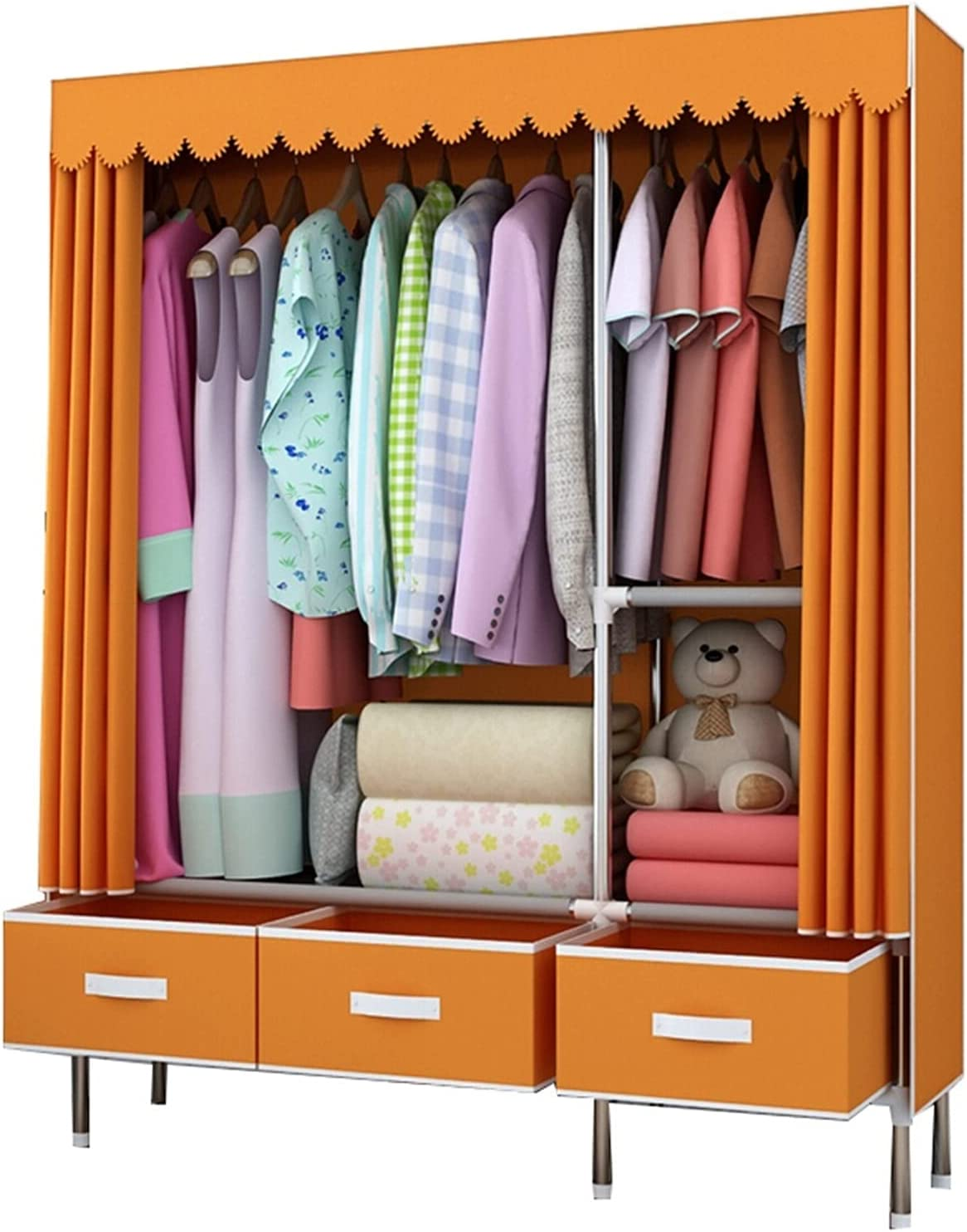 Cheap mail order shopping Wardrobe Ranking TOP20 Portable for Hanging Clothes Fabri Drawer with