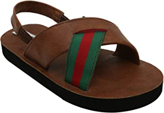 D'chica Bro Cool Multi Colour Flip Flops with Backstraps for Boys