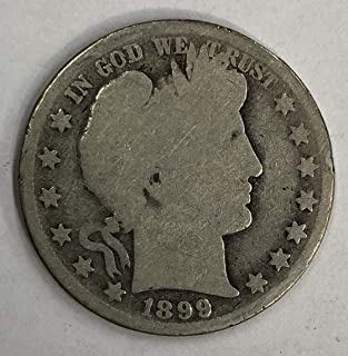1899 P Barber Half Dollar 50C Average Circulated/Good Condition (G)