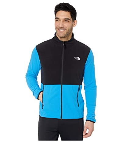 The North Face TKA Glacier Full Zip Jacket (Clear Lake Blue/TNF Black) Men