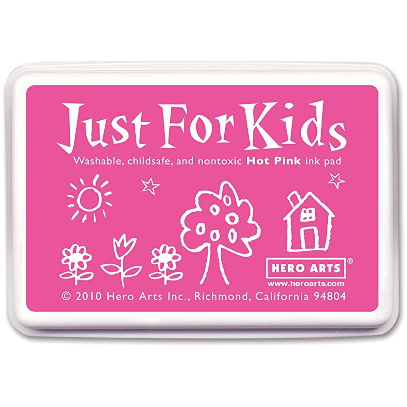 Hero Arts Just For Kids CS105 Washable Ink Pad for Rubber Stamps - Hot Pink