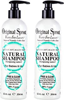 Original Sprout Natural Shampoo. Organic Sulfate Free Shampoo for All Natural Hair Care. 12 oz (2 pack)