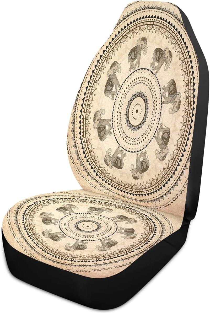Oarencol Vintage Mandala Elephant Flower Seat Bargain sale An Covers Sale SALE% OFF Car Boho