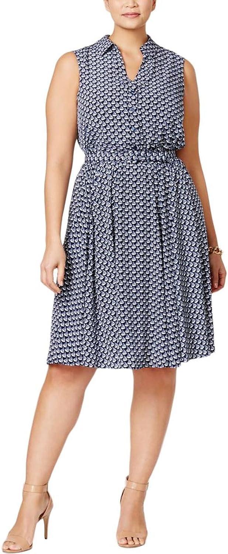 Charter Club Plus Size BoatPrint Fit & Flare Dress,