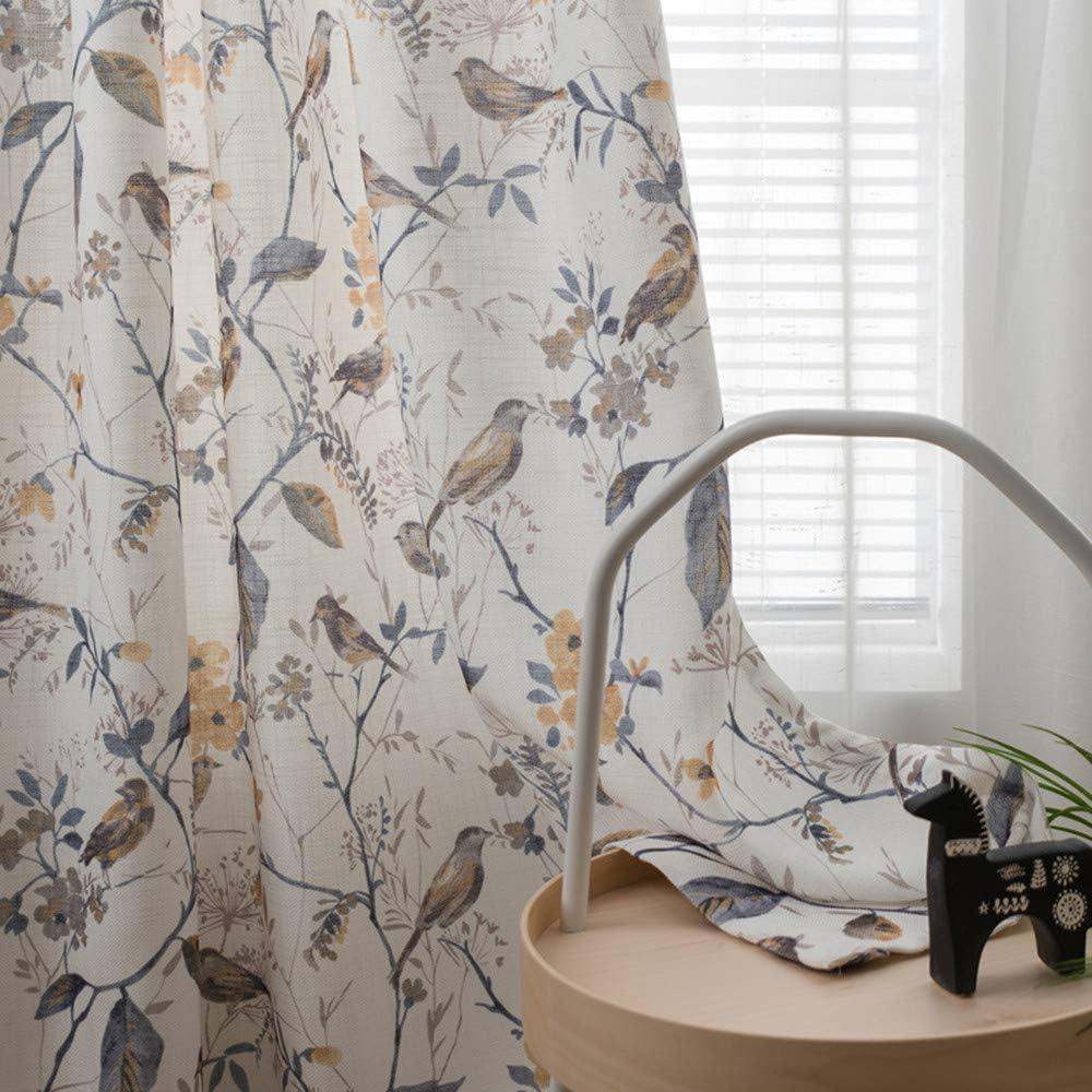 Linen Blend 輸入 Semi Blackout Curtains Bedroom for Thermal 激安通販販売 Farmhouse