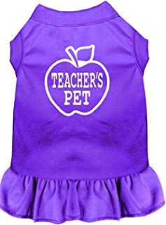 Mirage Pet Products 57-51 4XPR Purple 4 Teachers Pet Screen Print Dress, 4X-Large